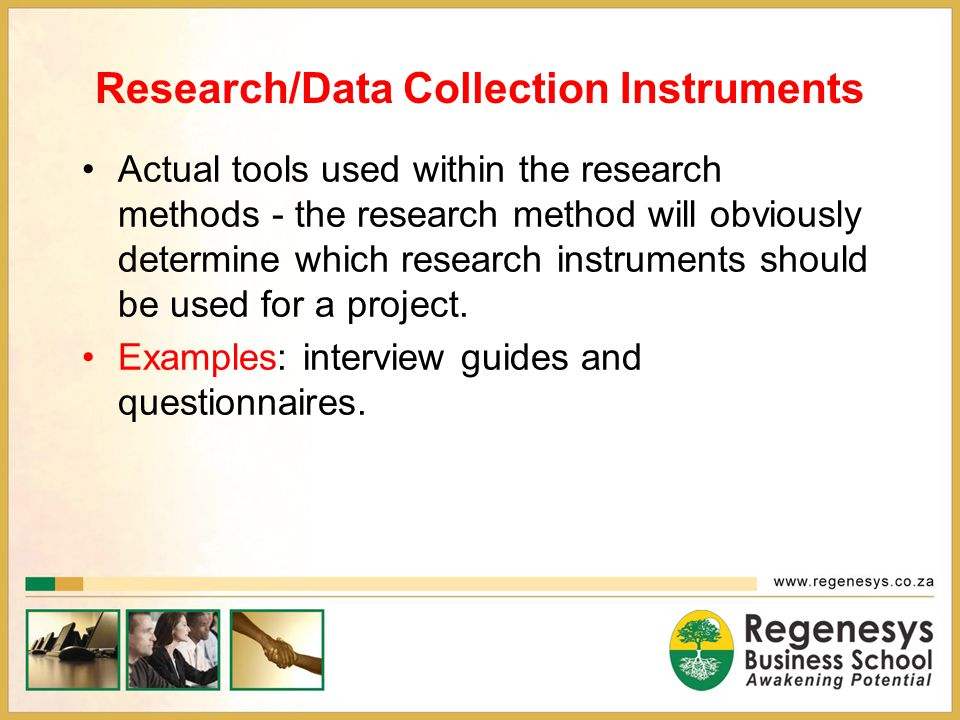 Research/Data Collection Instruments