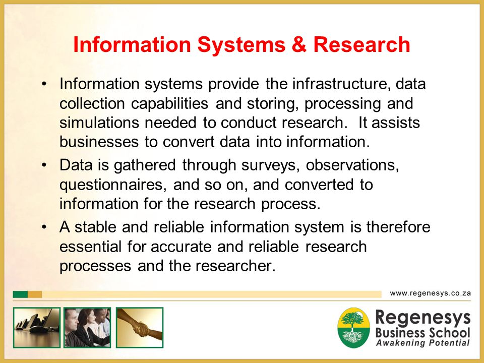 Information Systems & Research