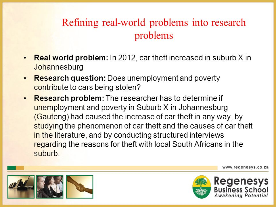 Refining real-world problems into research problems