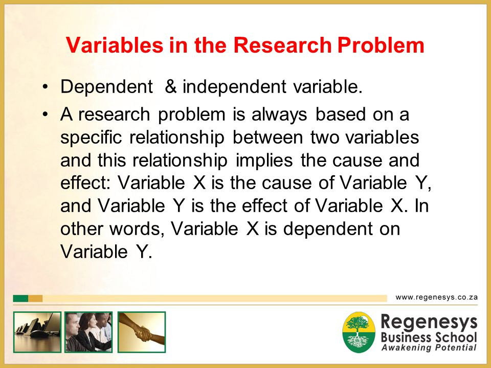 Variables in the Research Problem