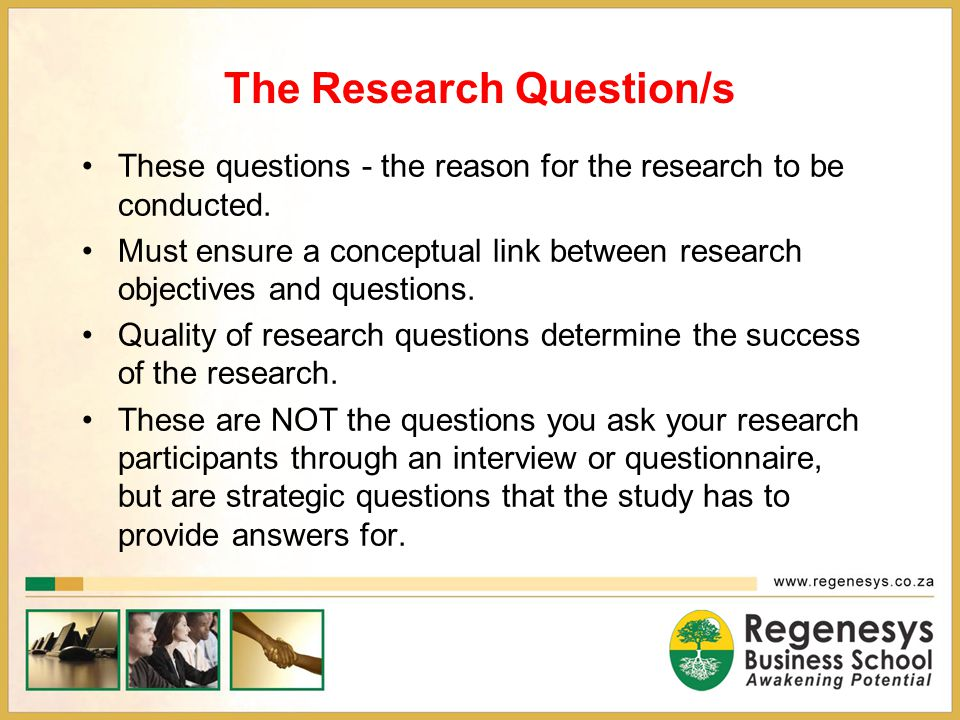 The Research Question/s
