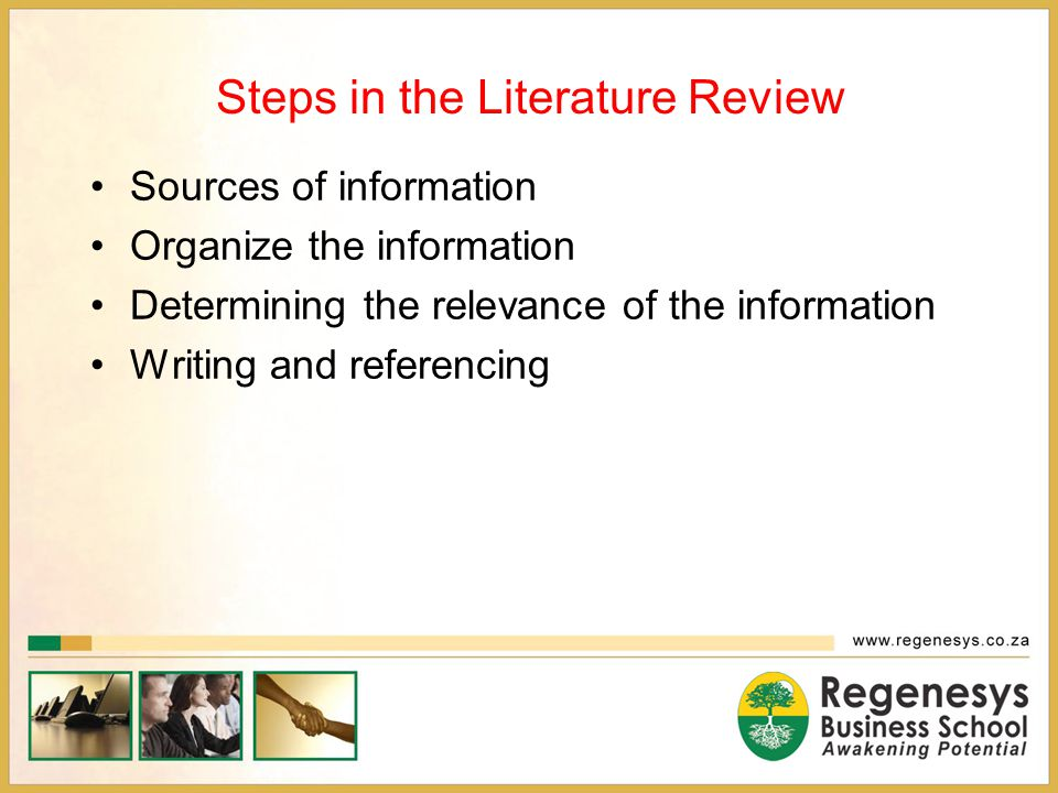 Steps in the Literature Review