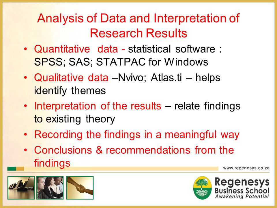 Analysis of Data and Interpretation of Research Results