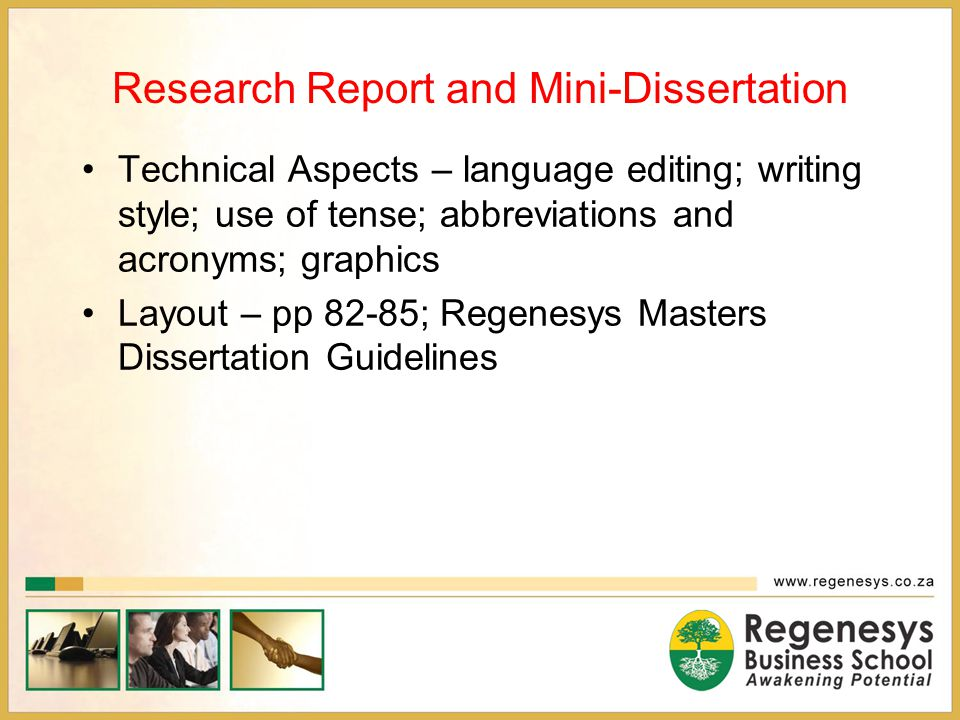 dissertation writing techniques How to write your thesis all other researchers using the same technique you order of writing your thesis is not written in the same order as it.