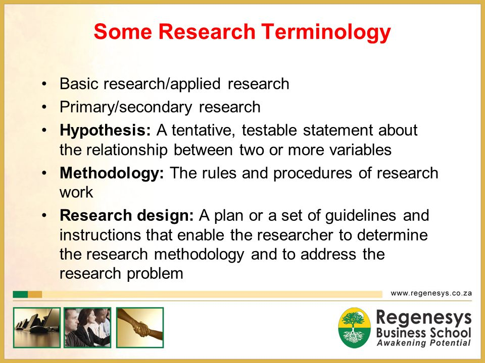 Some Research Terminology