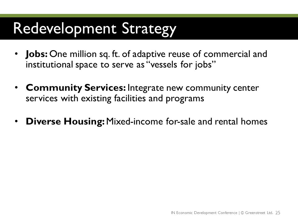 Redevelopment Strategy