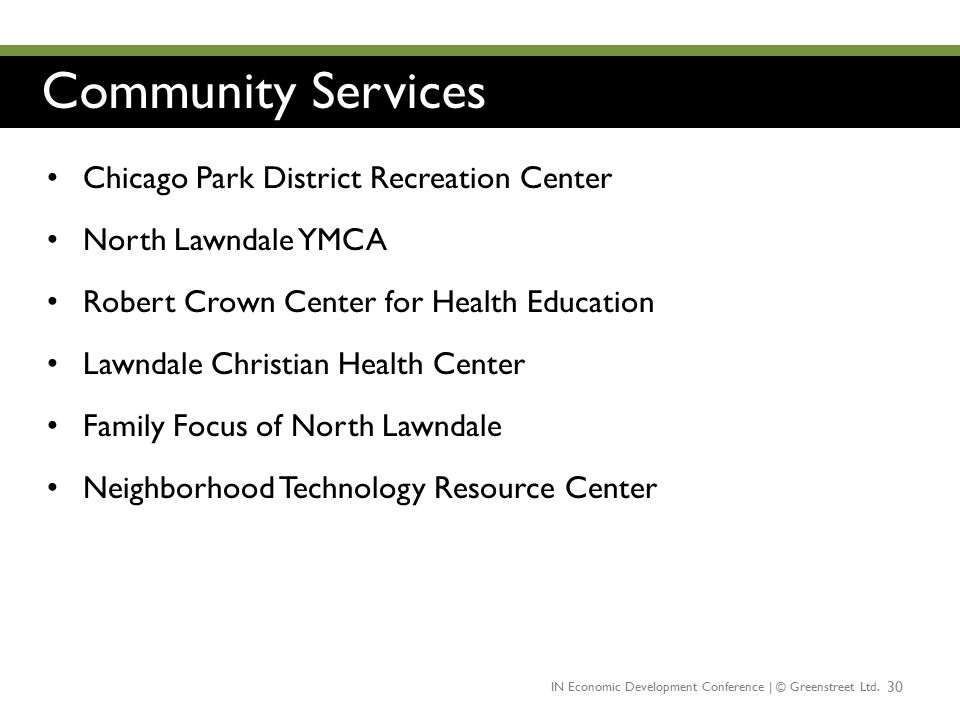 Community Services Chicago Park District Recreation Center