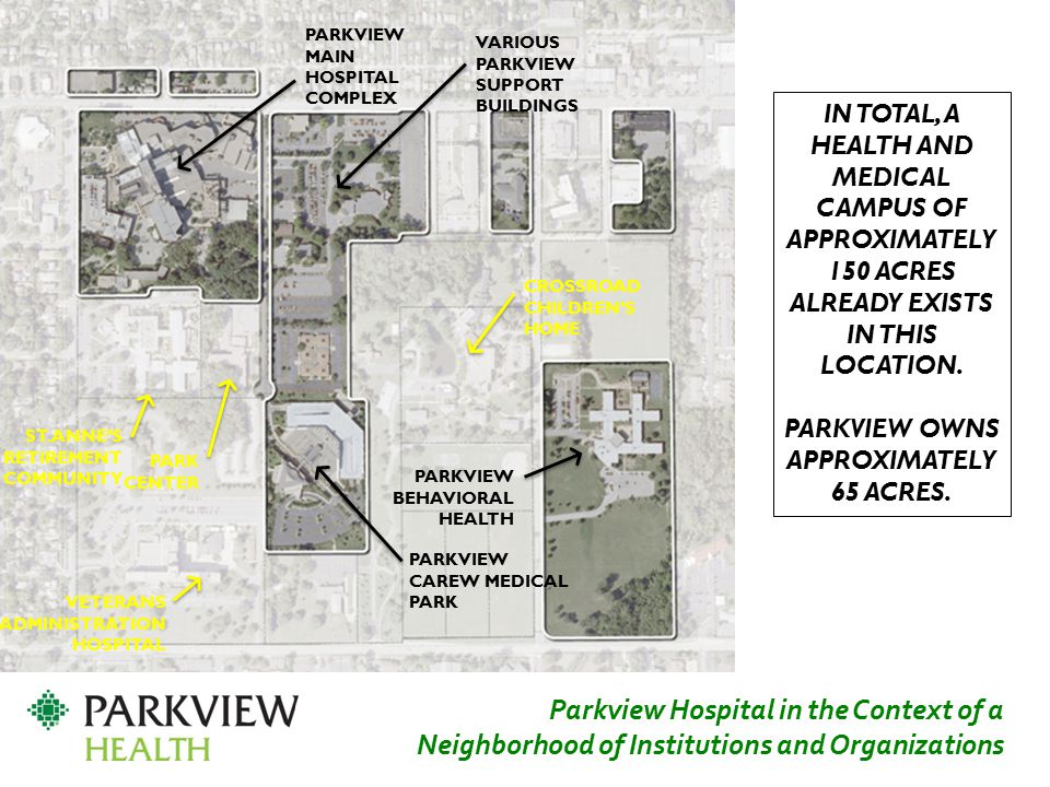 Parkview owns approximately 65 Acres.