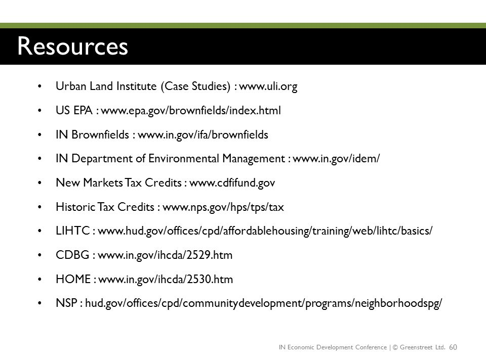 Resources Urban Land Institute (Case Studies) : www.uli.org