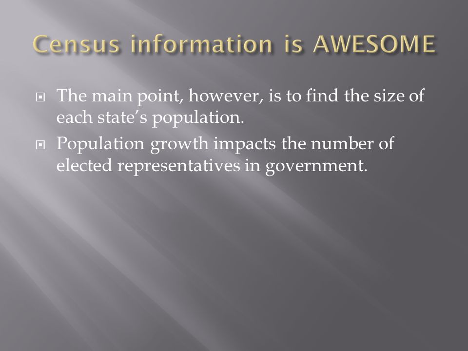 Census information is AWESOME