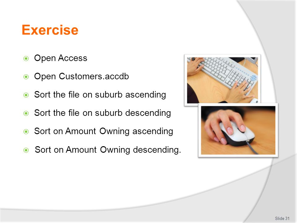 Exercise Open Access Open Customers.accdb