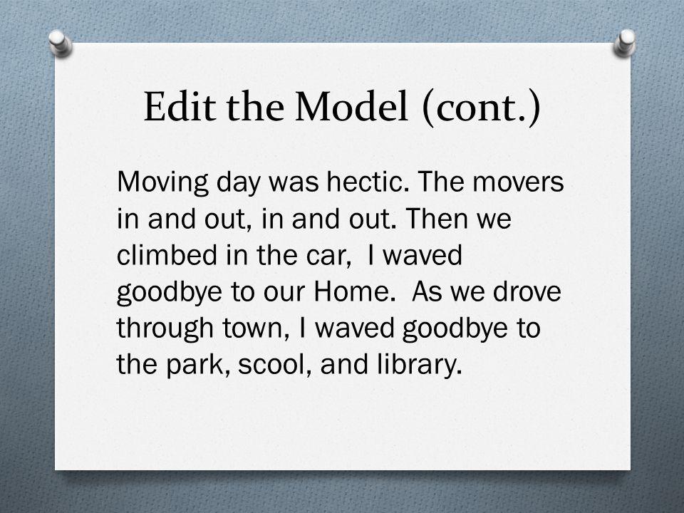 Edit the Model (cont.)