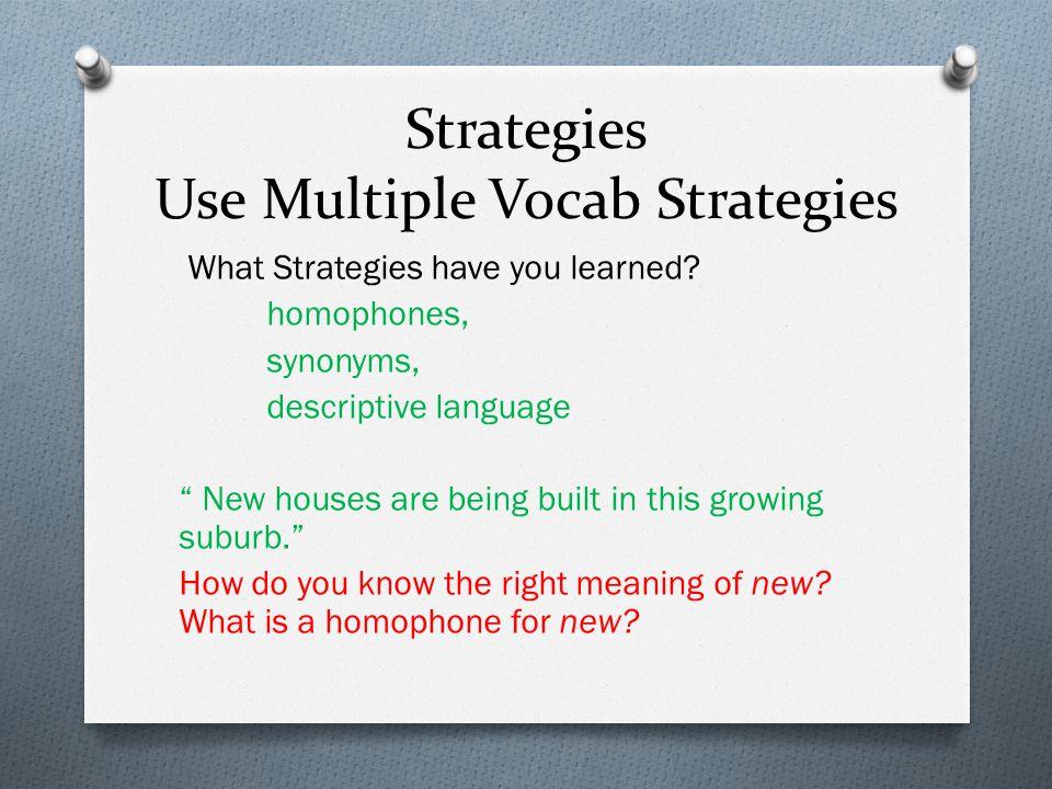 Strategies Use Multiple Vocab Strategies