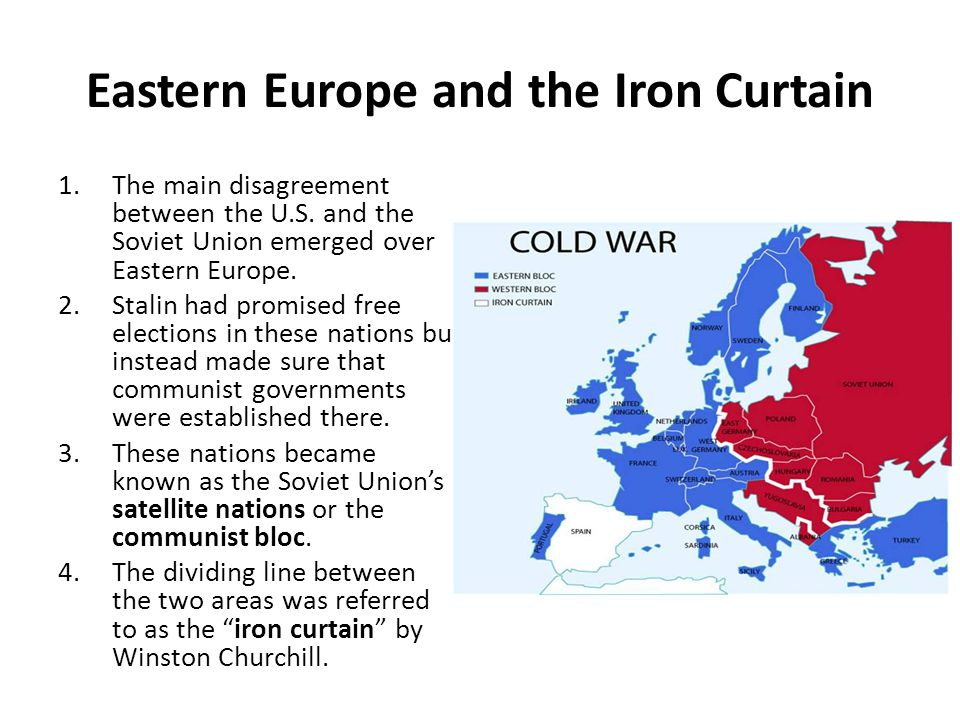 Eastern Europe and the Iron Curtain