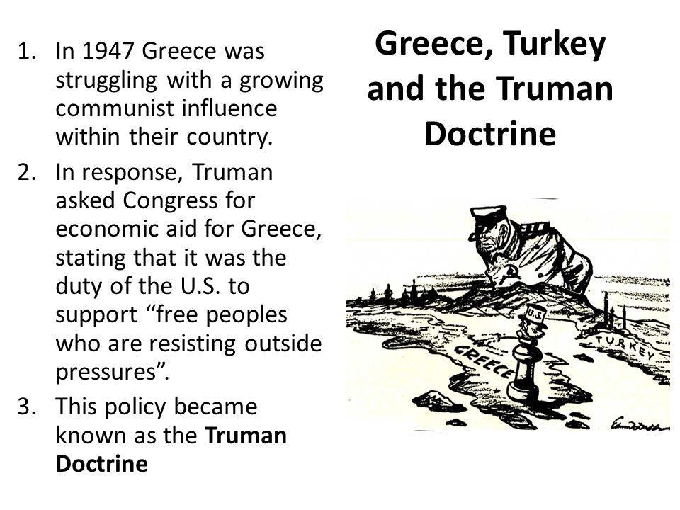 Greece, Turkey and the Truman Doctrine