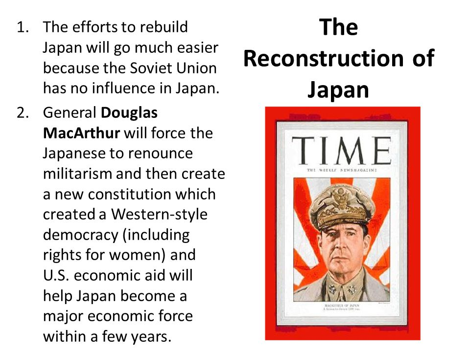 The Reconstruction of Japan