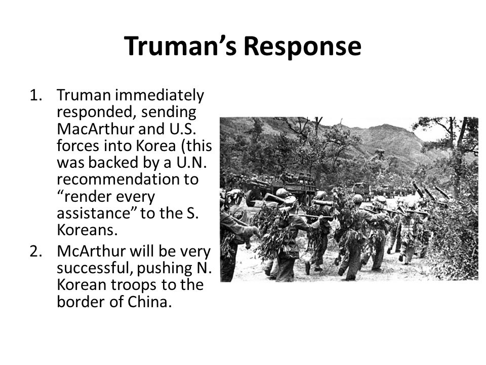 Truman's Response