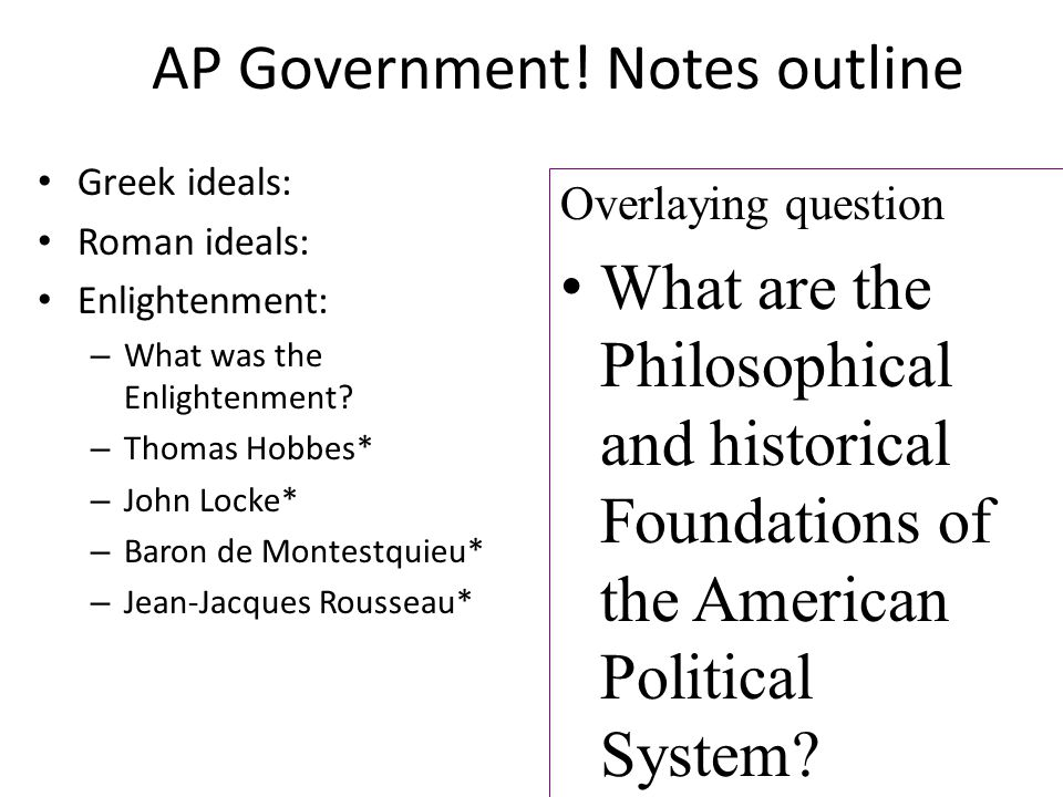 The Best AP US Government Notes to Study With