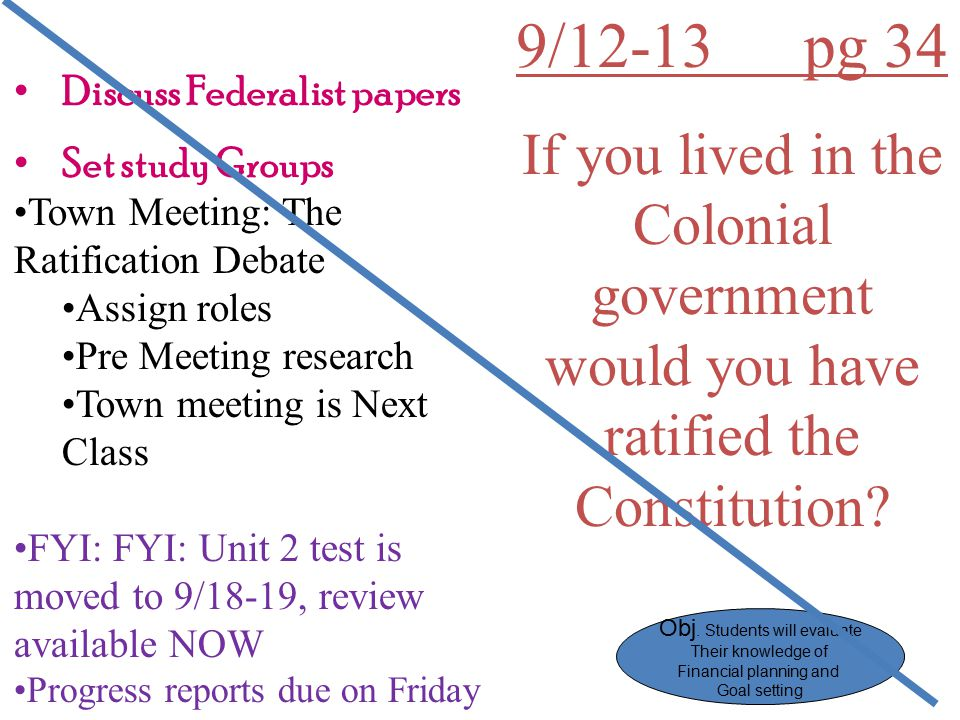 Discuss Federalist papers