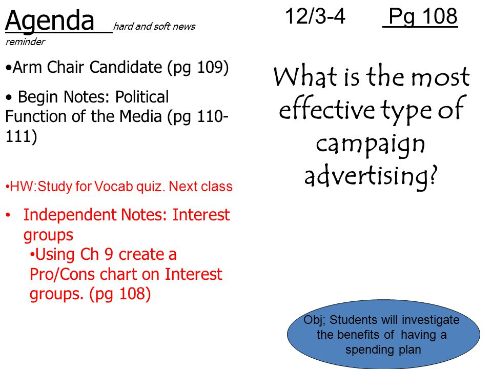 What is the most effective type of campaign advertising