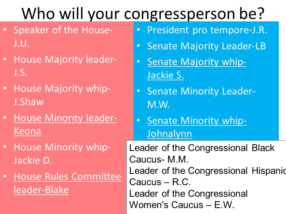 Who will your congressperson be