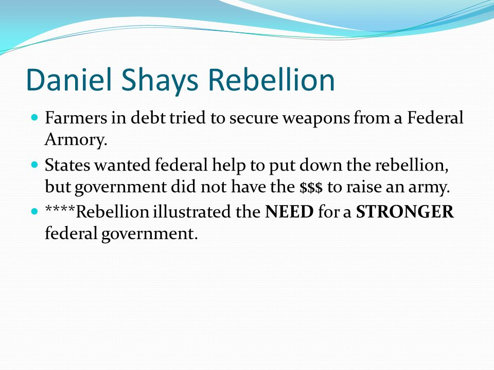 Daniel Shays Rebellion