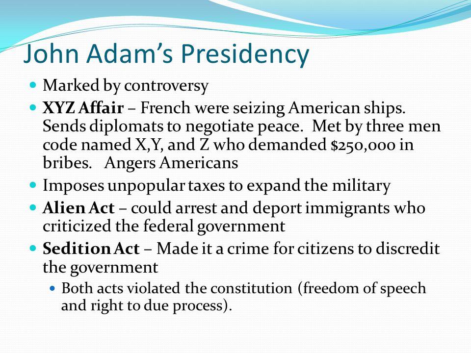 John Adam's Presidency