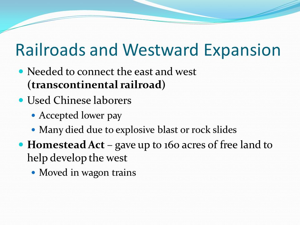 Railroads and Westward Expansion