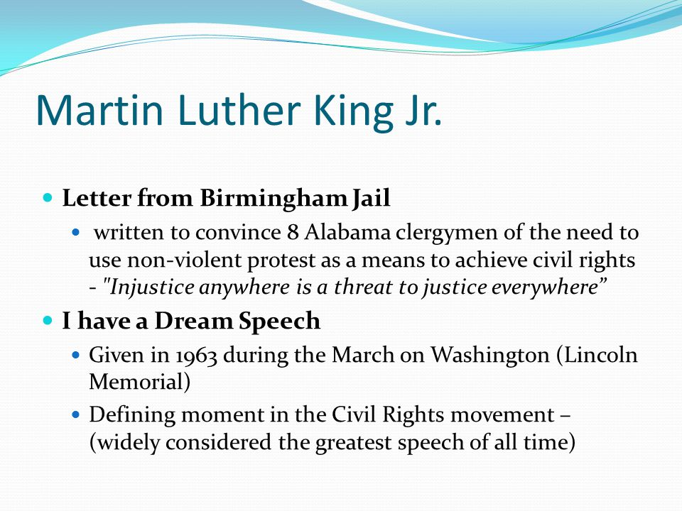 Martin Luther King Jr. Letter from Birmingham Jail