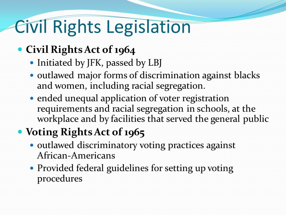 Civil Rights Legislation