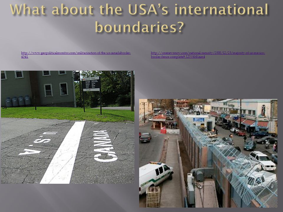 What about the USA's international boundaries
