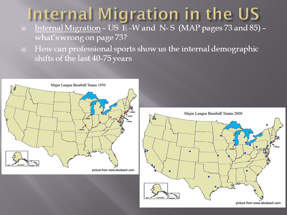 Internal Migration in the US