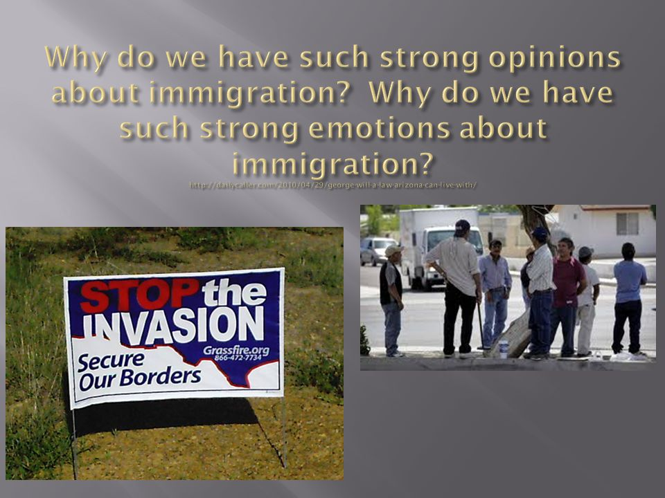 Why do we have such strong opinions about immigration