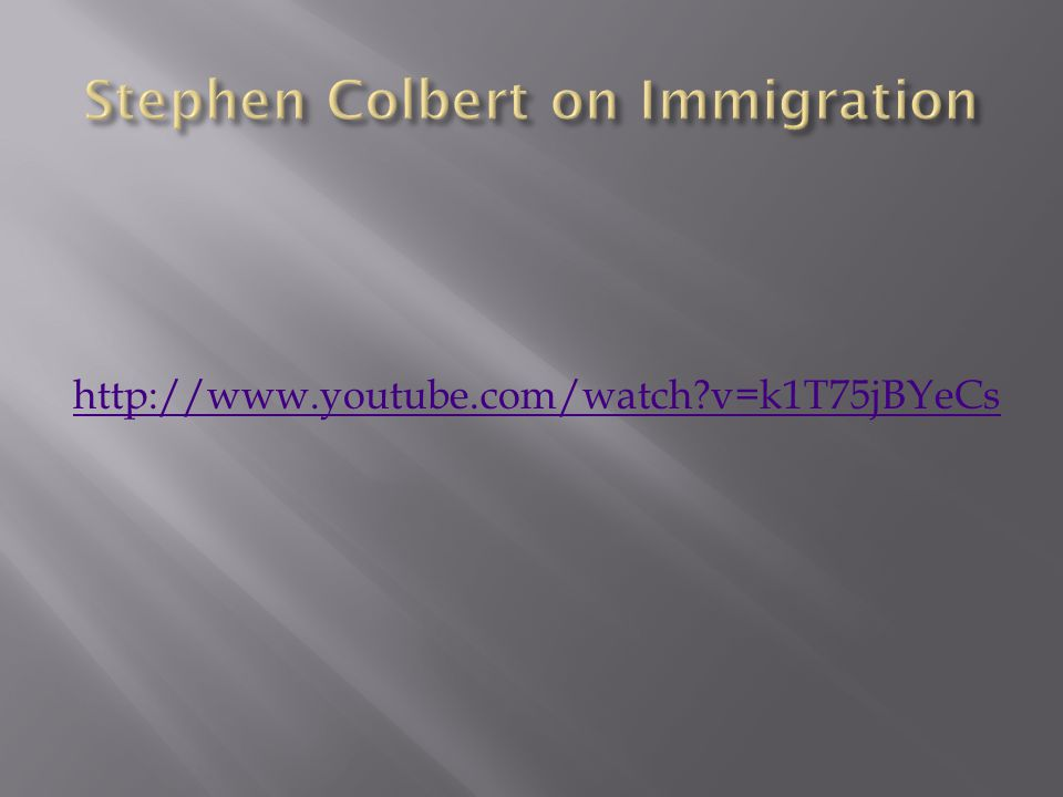 Stephen Colbert on Immigration