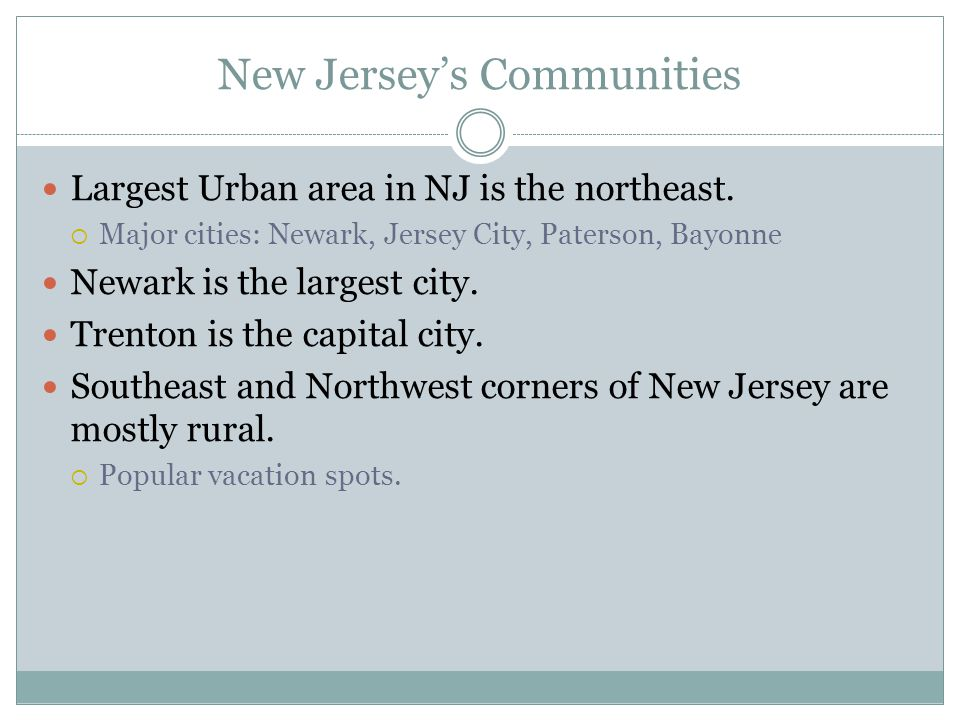 New Jersey's Communities