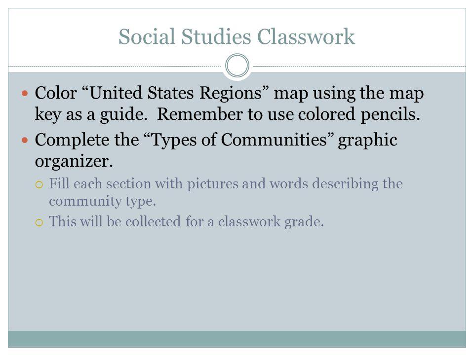 Social Studies Classwork