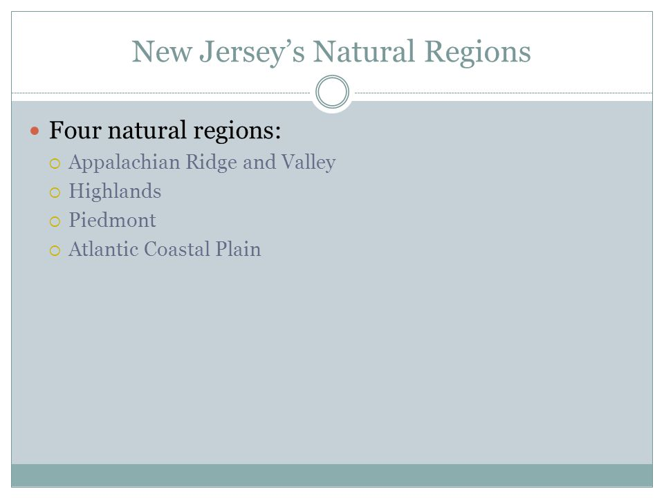New Jersey's Natural Regions
