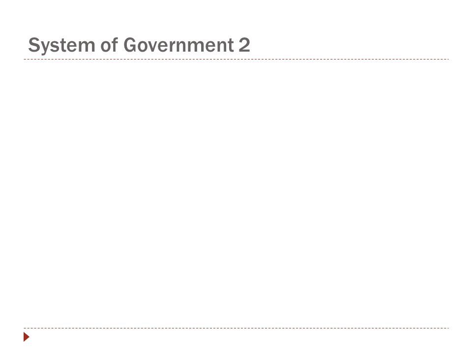 System of Government 2
