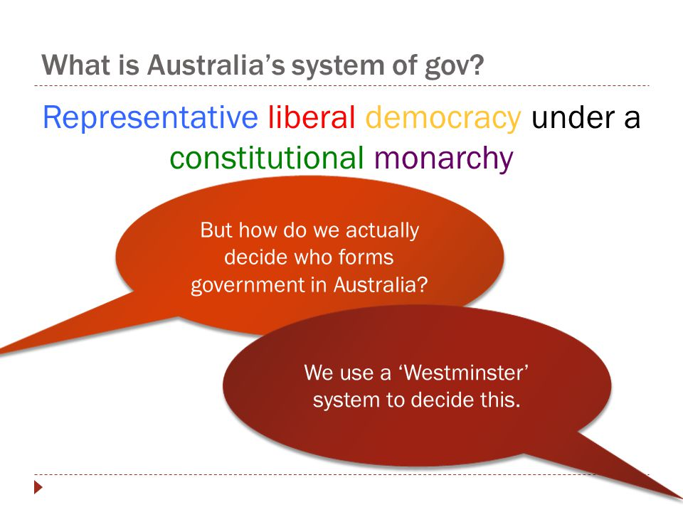 What is Australia's system of gov