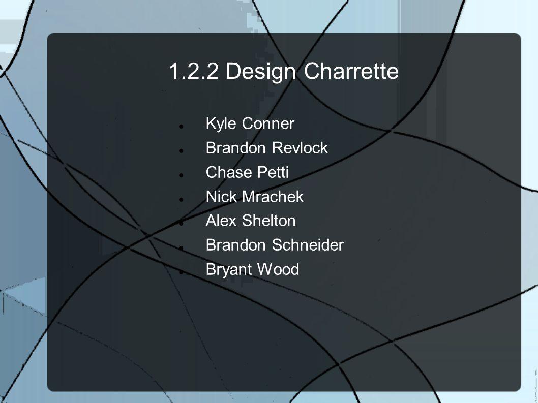 1.2.2 Design Charrette Kyle Conner Brandon Revlock Chase Petti
