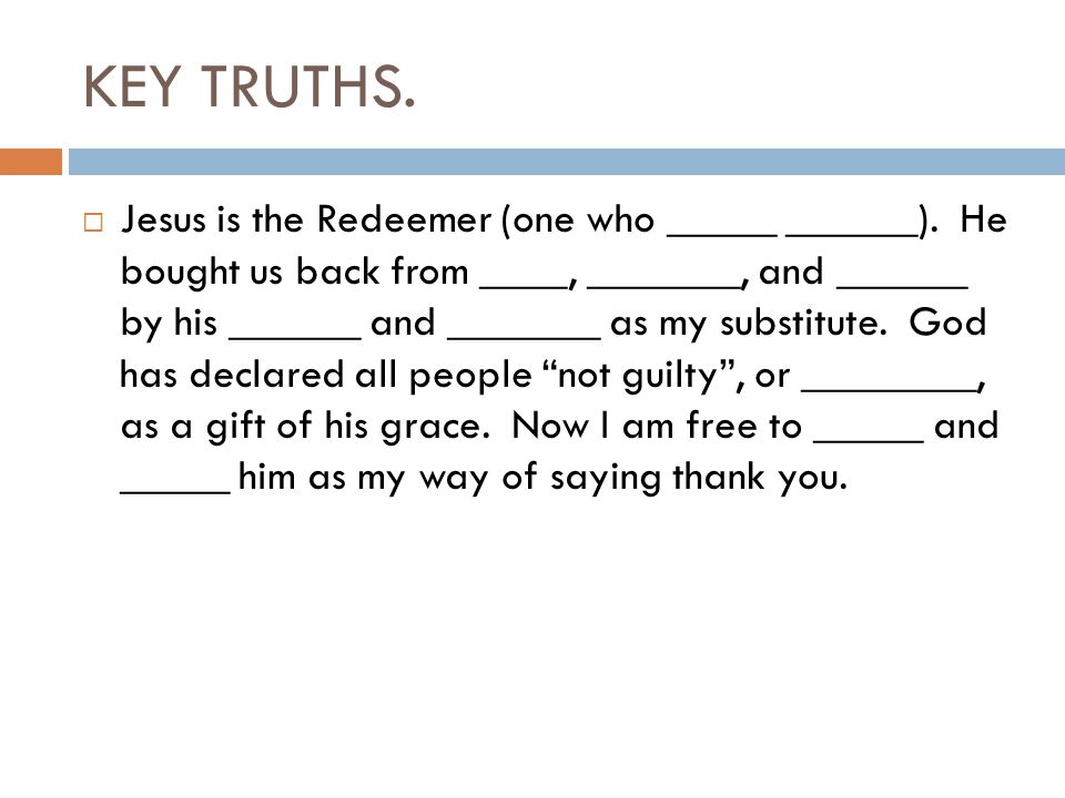 KEY TRUTHS.