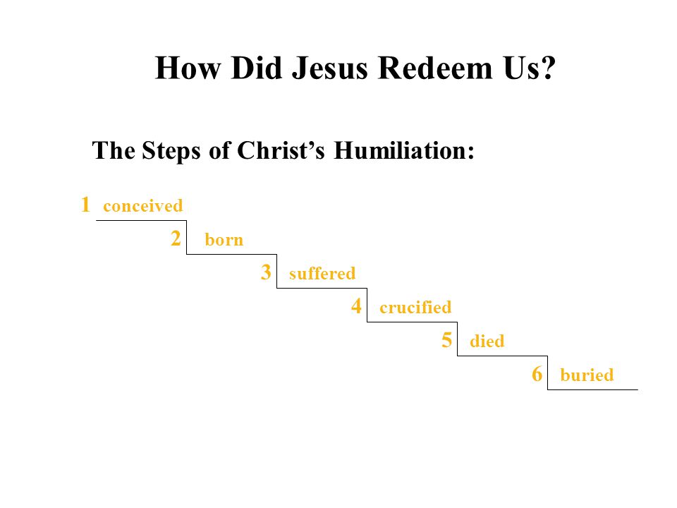 How Did Jesus Redeem Us The Steps of Christ's Humiliation: