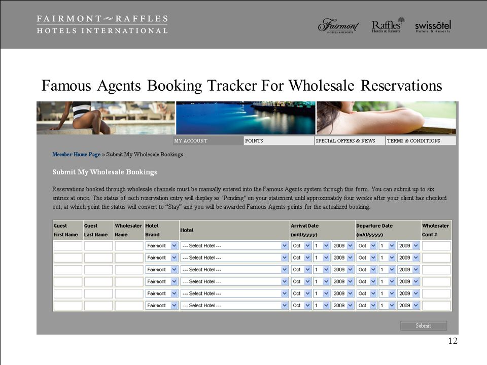 Famous Agents Booking Tracker For Wholesale Reservations