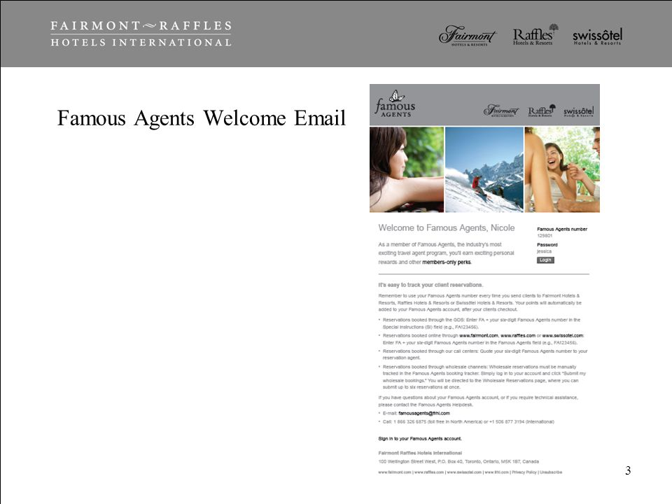 Famous Agents Welcome Email