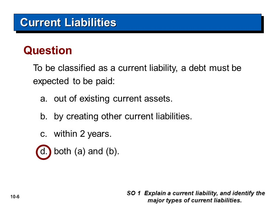 Current Liabilities Question