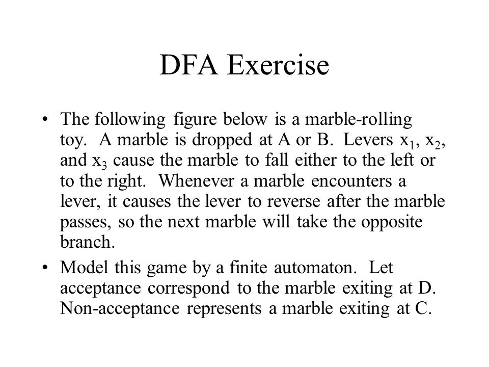 DFA Exercise