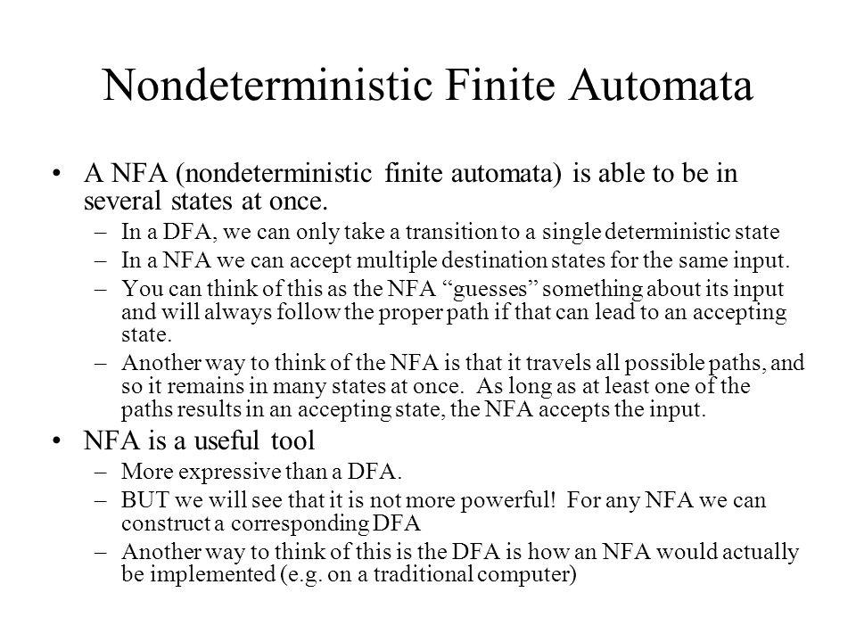 Nondeterministic Finite Automata