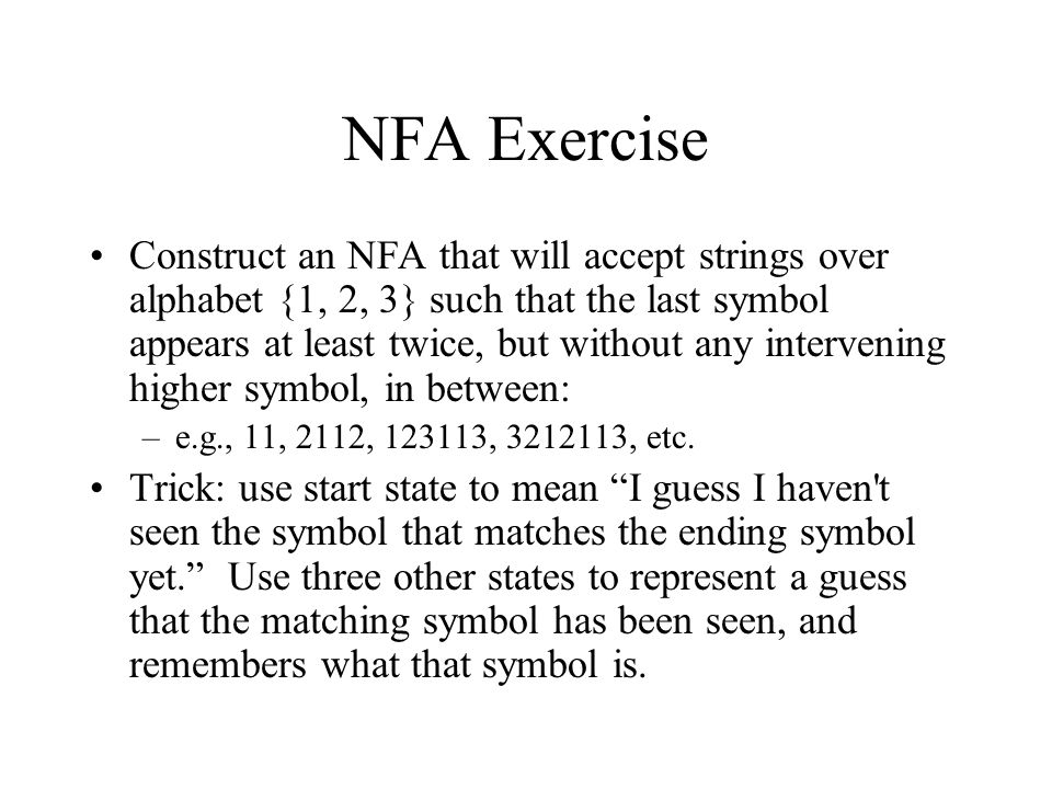 NFA Exercise