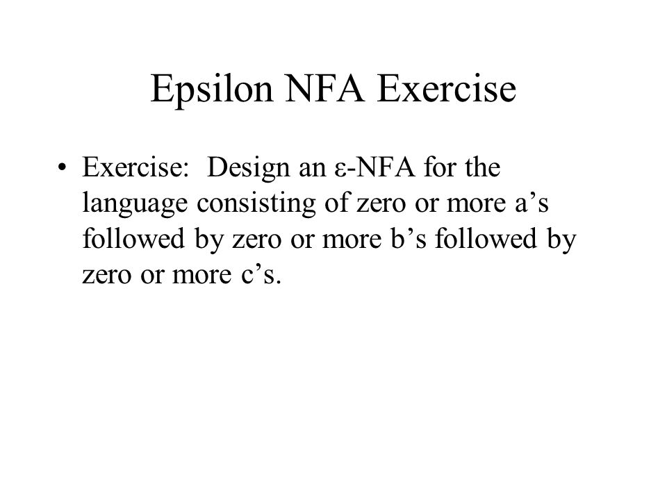 Epsilon NFA Exercise