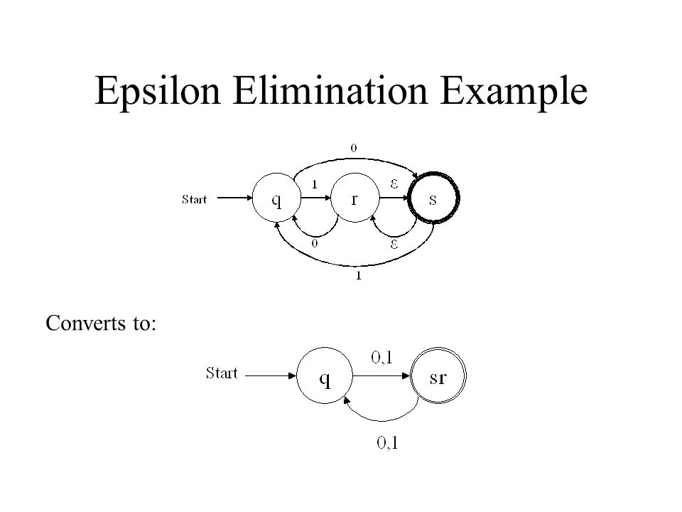 Epsilon Elimination Example